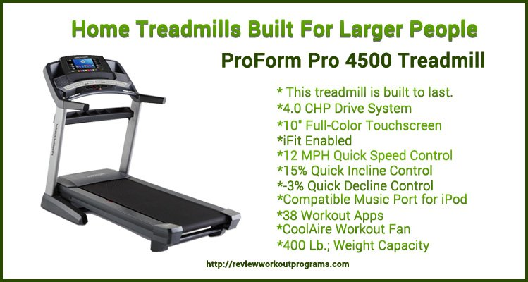 Home Treadmills For Larger People