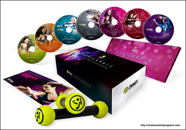 zumba fitness exhilarate body shaping system dvd set
